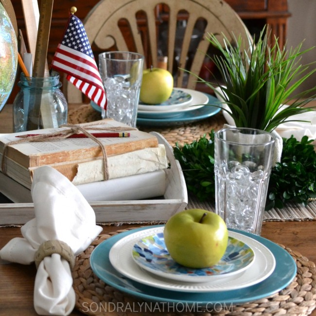 Back-to-School Tablescape- Sondra Lyn at Home.com