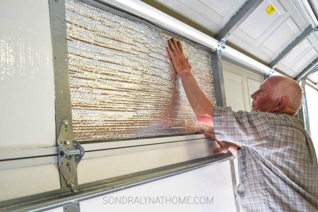 How to insulate garage doors and why you should garage door insulation installation reflective panels of insulation 1 of 1 solutioingenieria Choice Image