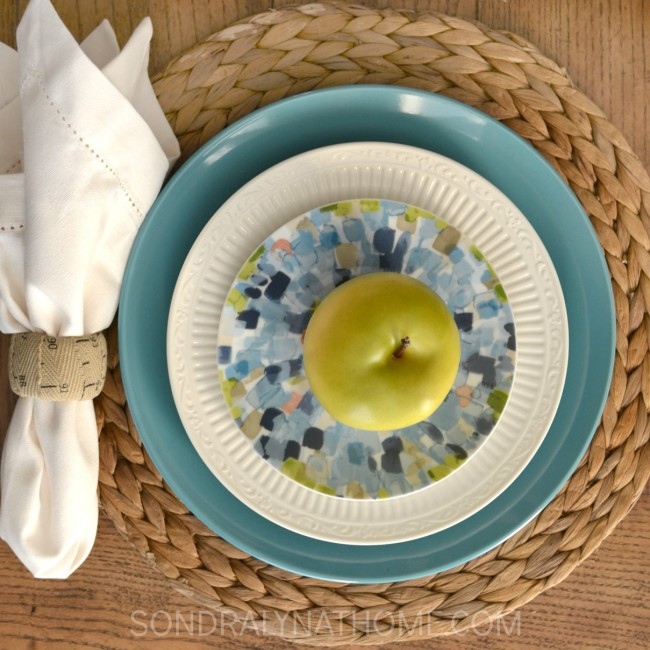 Back-to-School Table Place Setting - Sondra Lyn at Home.com