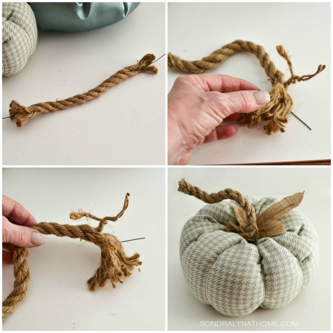 how-to-make-a-fabric-pumpkin-making-the-stem-by-sondra-lyn-at-home-com