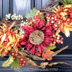 How to Make a Fabulous Fall Wreath-detail-- Sondra Lyn at Home.com