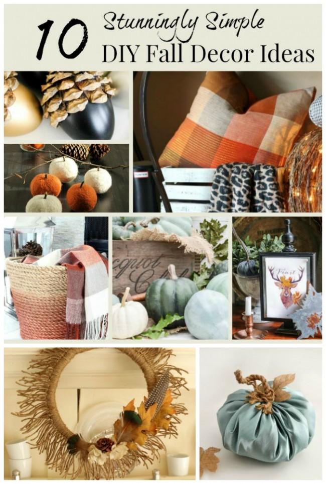 10 Stunningly Simple DIY Fall Decor Ideas