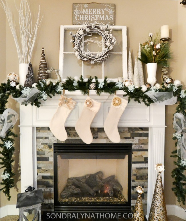 Country Christmas Mantels: Home For The Holidays Blog Tour 2016