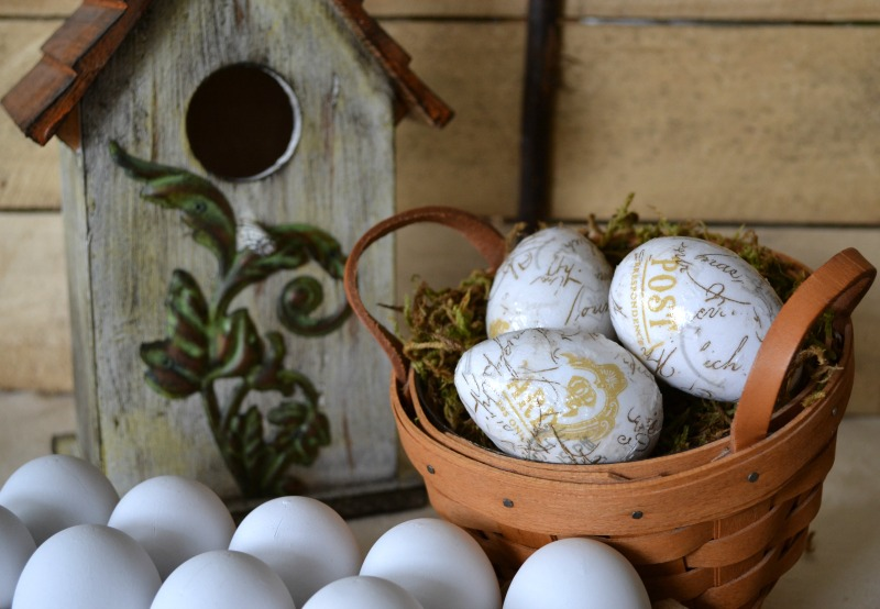 Spring French Script Eggs - Sondra Lyn at Home