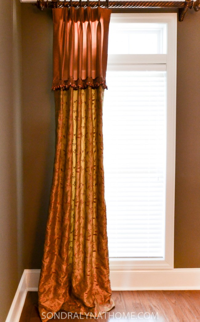 Dining Room Makeover - Before-Drapes - Sondra Lyn at Home.com