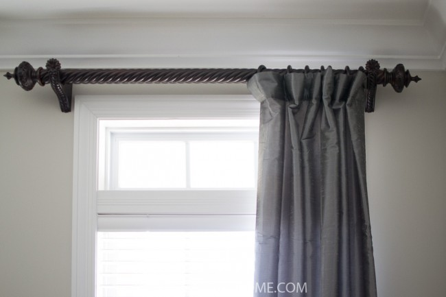 Dining Room Makeover - Curtain Rods - Sondra Lyn at Home.com