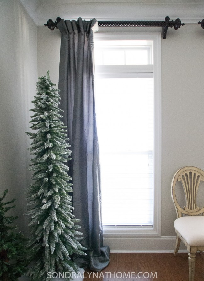 Dining Room Makeover - Drapes After - Sondra Lyn at Home.com