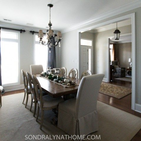 Dining Room Makeover -Repose Gray- Sondra Lyn at Home.com
