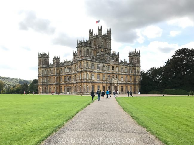 Approaching Highclere Castle - Sondra Lyn at Home