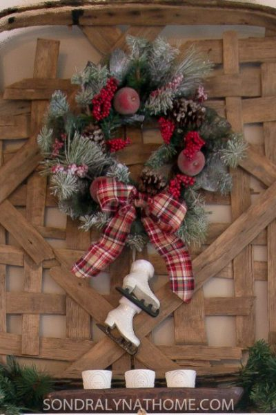 Plaid Tidings Christmas Mantel