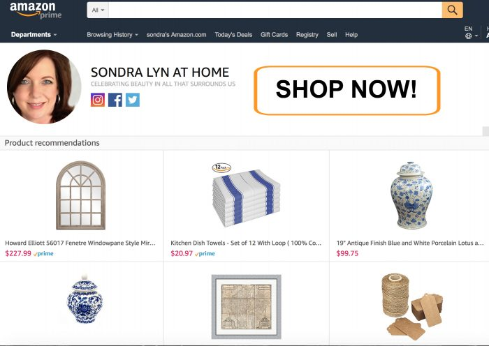 shop My Amazon Store - Sondra Lyn at Home.com