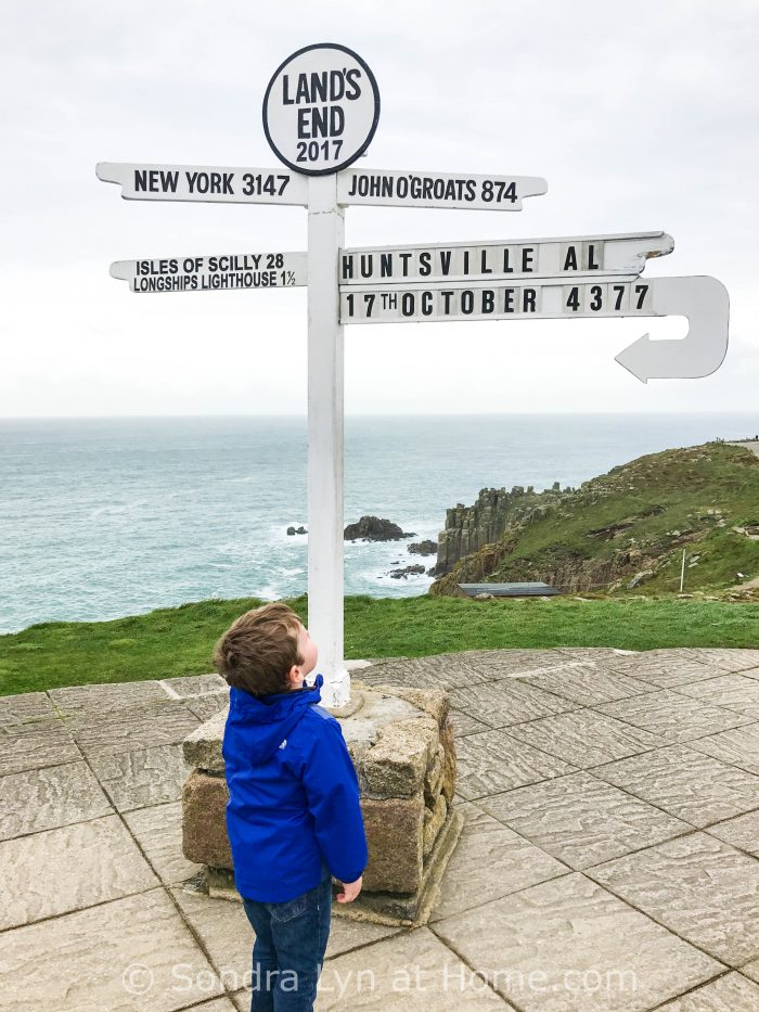 Lands End and baby- Cornwall 2017 - Sondra Lyn at Home.com