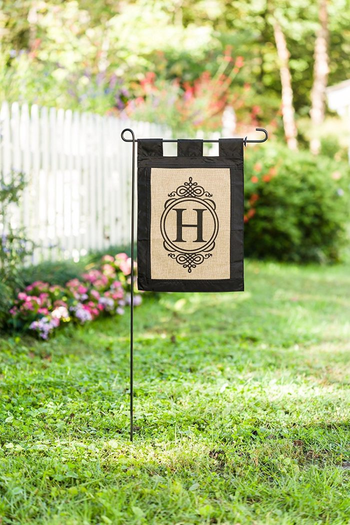 My Favorite Things February - Monogram Double-Sided Burlap Garden Flag - Sondra Lyn at Home.com