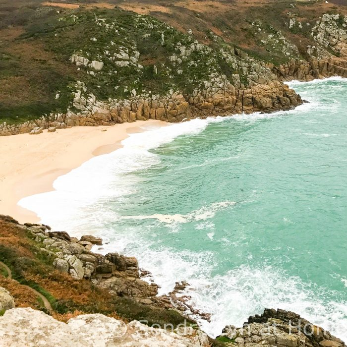 Porthcurno Beach - Cornwall 2017 -square crop- Sondra Lyn at Home.com