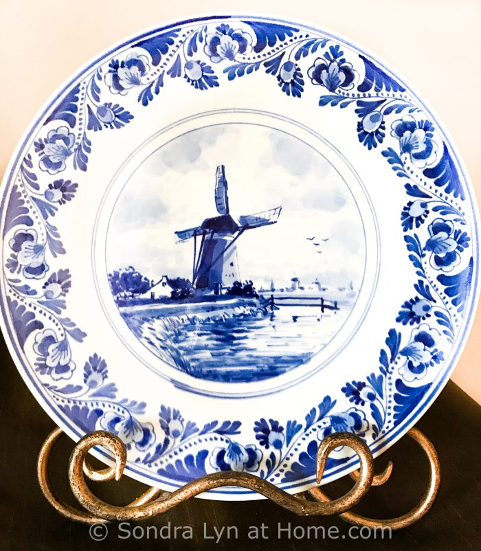 Royal Delft Plate - Sondra Lyn at Home