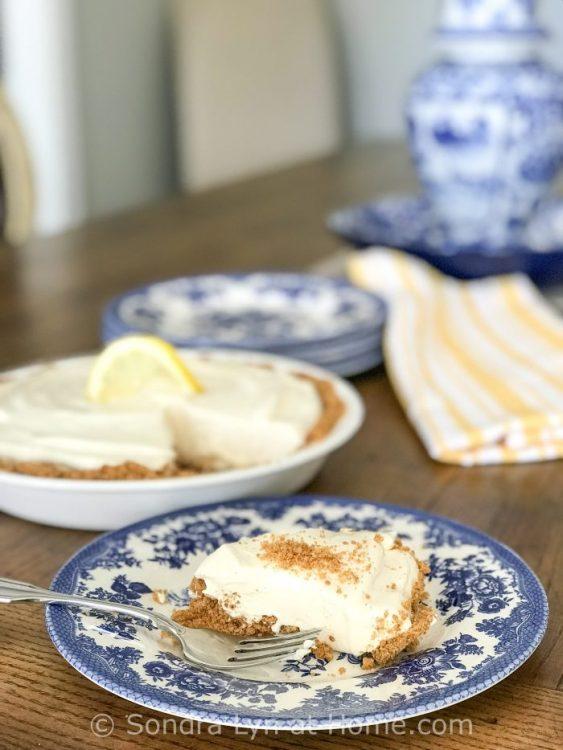 Easy Lemon Pie by Sondra Lyn at Home.com