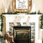 Easy Farmhouse Christmas Mantel